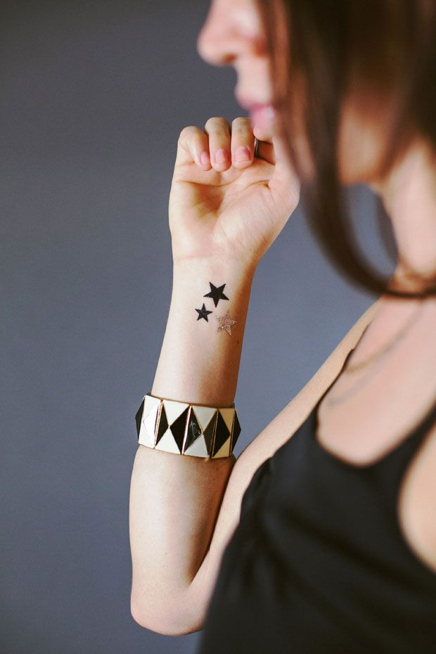 New Metallic Temporary Tattoos Are Basically Jewelery