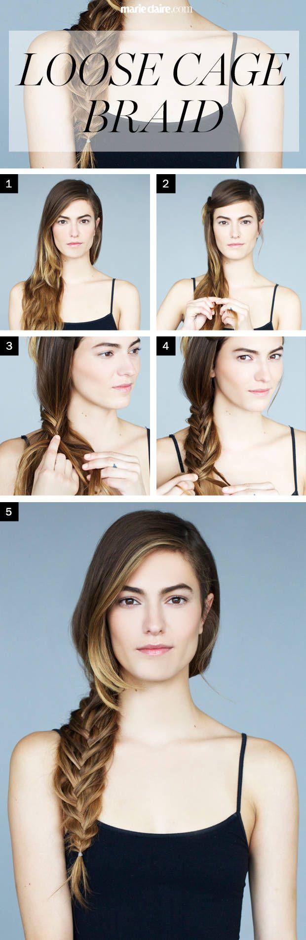 Hair How To Boyfriend Braid Aka The Loose Cage Braid
