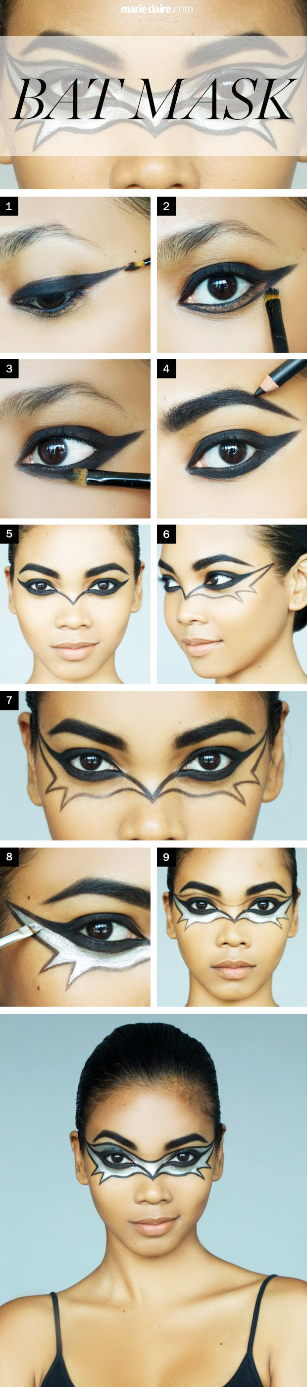 Bat Makeup Halloween Costume.Halloween Makeup How To The Bat Mask