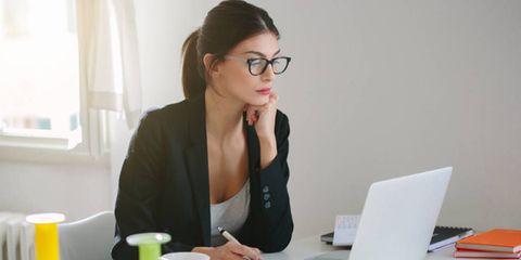 woman working career