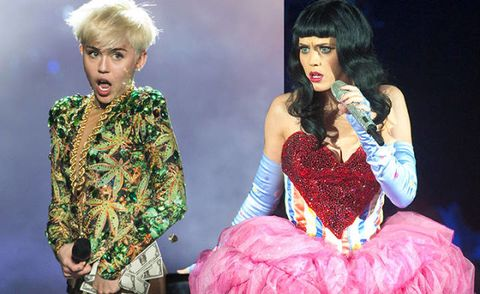 Katy Perry Set to Spank That Naughty Lil' Miley Cyrus