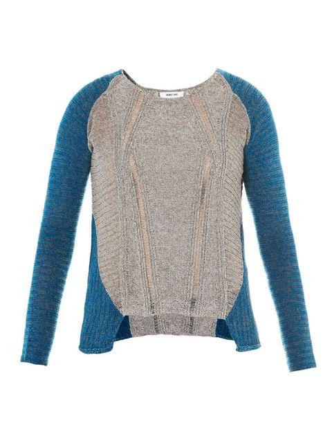 helmut lang color block sweater