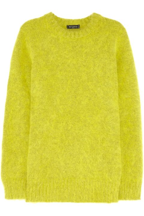 Product, Green, Yellow, Sweater, Sleeve, Textile, Outerwear, Wool, Woolen, Natural material,