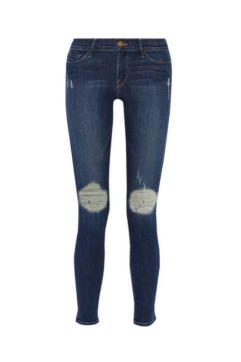 Blue, Brown, Denim, Trousers, Jeans, Textile, Pocket, Standing, Style, Electric blue,