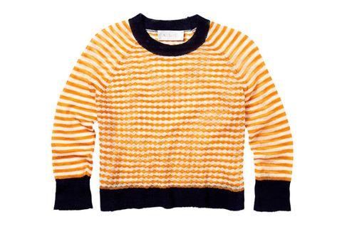 Product, Yellow, Sleeve, Sweater, Orange, Textile, White, Pattern, Amber, Neck,