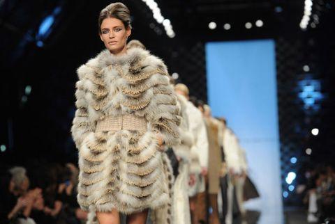 model in fur