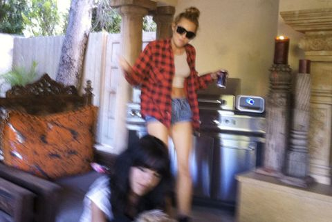 At Home with Miley