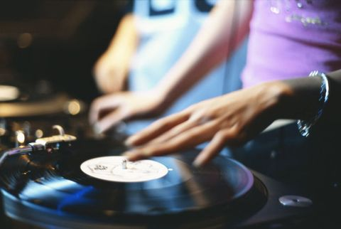 Music, Gramophone record, Wrist, Nail, Electronics, Scratching, Deejay, Record player, Bracelet, Electronic musical instrument,