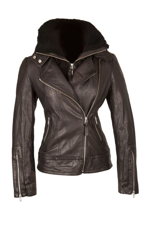 Clothing, Jacket, Brown, Sleeve, Textile, Coat, Outerwear, Natural material, Leather, Leather jacket,