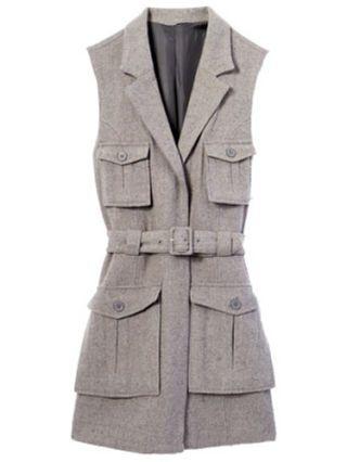 belted safari vest