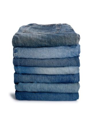 neat stack of jeans