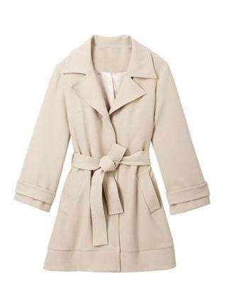 cream trench coat