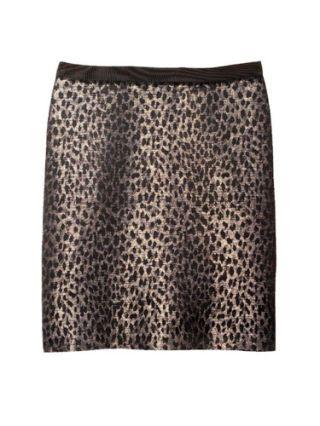 leopard print ann taylor skirt