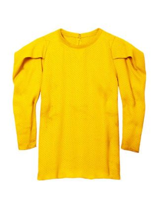 bright yellow long sleeve tee
