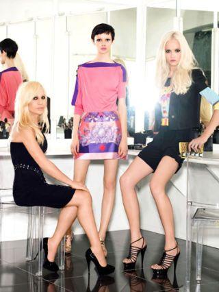 donatella versace and models
