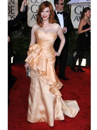 christina hendricks golden globes 2010