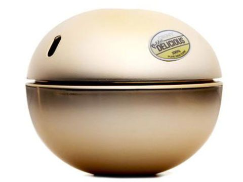 round bottle of dkny delicious perfume