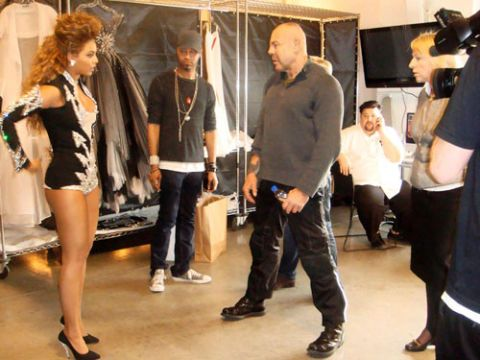 beyonce knowles behind the scenes