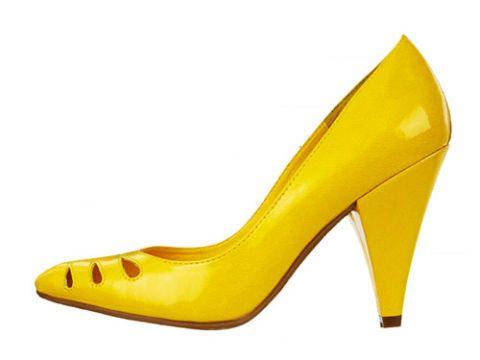 yellow high heel