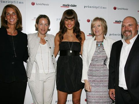 marie claire and petra nemcova party to help stop sexual slavery