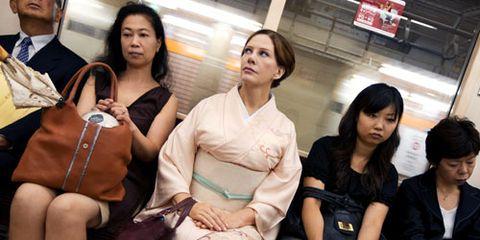 geisha on train