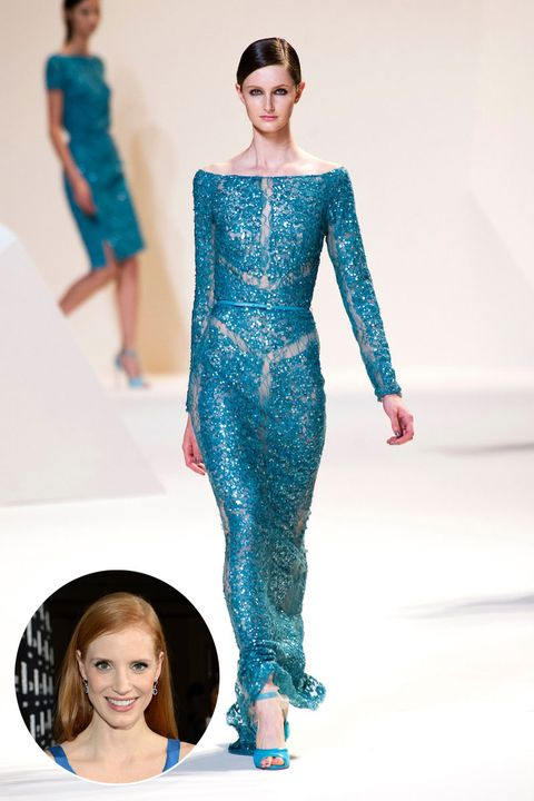 Jessica Chastain in Elie Saab Spring 2013