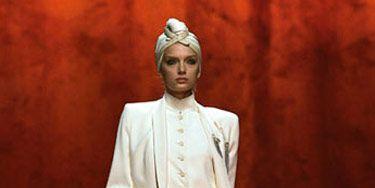 hermes runway show the urban turban