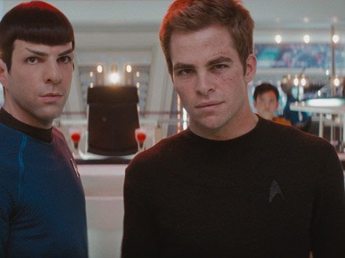 captain kirk and spock on star trek