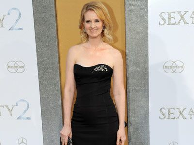 cynthia nixon at sex and the city sequel premiere