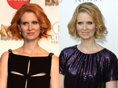 Cynthia nixon blonde hair redhead cynthia nixons new hair color urmus Gallery
