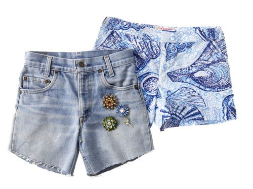 shorts and brooches