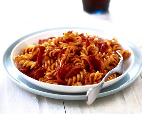 Pasta, Food, Cuisine, Ingredient, Tableware, Recipe, Dish, Drink, Drinkware, Barware,
