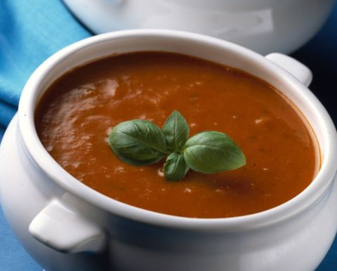 Food, Serveware, Ingredient, Tableware, Condiment, Soup, Peach, Dish, Recipe, Spoon,