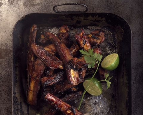 Food, Ingredient, Cooking, Recipe, Cookware and bakeware, Roasting, Cuisine, Citrus, Meat, Lime,
