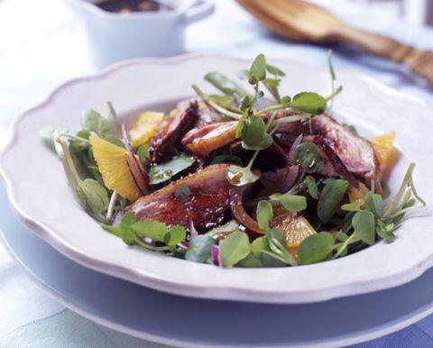 Food, Dishware, Serveware, Ingredient, Tableware, Salad, Cuisine, Plate, Leaf vegetable, Garnish,