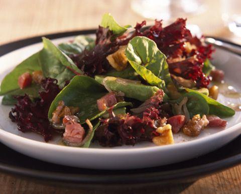 Food, Dishware, Salad, Serveware, Cuisine, Tableware, Leaf vegetable, Vegetable, Produce, Plate,
