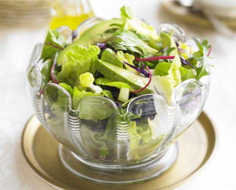 Serveware, Dishware, Leaf vegetable, Vegetable, Ingredient, Produce, Salad, Ceramic, Porcelain, Herb,