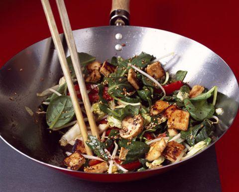 Food, Cuisine, Ingredient, Tableware, Recipe, Cookware and bakeware, Produce, Dishware, Dish, Stir frying,