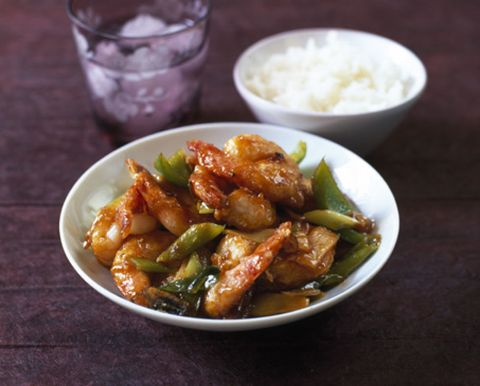 Food, Ingredient, Tableware, Steamed rice, Bowl, Cuisine, Recipe, Dish, Meat, White rice,