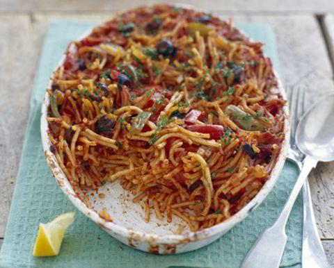 Food, Cuisine, Spaghetti, Noodle, Ingredient, Chinese noodles, Citrus, Instant noodles, Fried noodles, Dish,