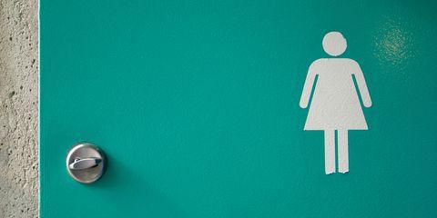 Women's toilet door
