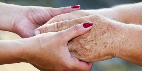 close up of young and old hands