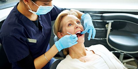 Medical procedure, Dentist, Dental hygienist, Skin, Dental assistant, Medical assistant, Health care, Nose, Tooth, Service,