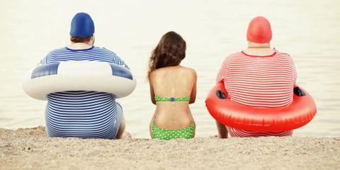 Fun, Sitting, Mammal, Leisure, Back, People on beach, People in nature, Summer, Headgear, Brassiere,