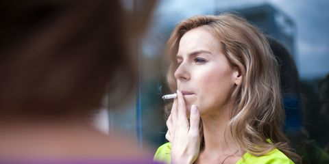 Nose, Lip, Beauty, Skin, Smoking, Chin, Tobacco products, Mouth, Blond, Brown hair,
