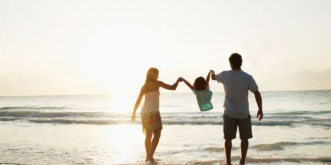 People on beach, Fun, Water, Standing, Happy, People in nature, Summer, Leisure, Beach, Coastal and oceanic landforms,