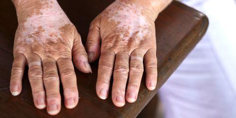 Finger, Skin, Joint, Wrist, Wrinkle, Thumb, Organ, Muscle, Nail, Beige,