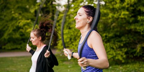 Face, Arm, Mouth, Sleeveless shirt, Mammal, Happy, People in nature, Running, Active tank, Exercise,