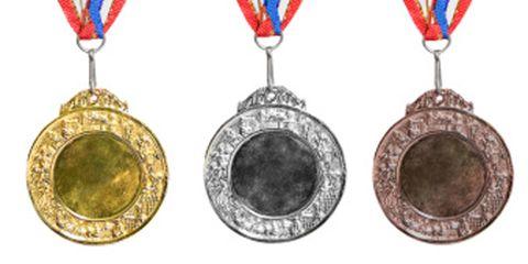 Red, Jewellery, Circle, Medal, Locket, Metal, Oval, Pendant, Body jewelry, Brass,