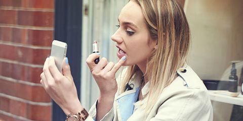 Finger, Lip, Hand, Mobile phone, Eyelash, Wrist, Nail, Communication Device, Portable communications device, Telephony,